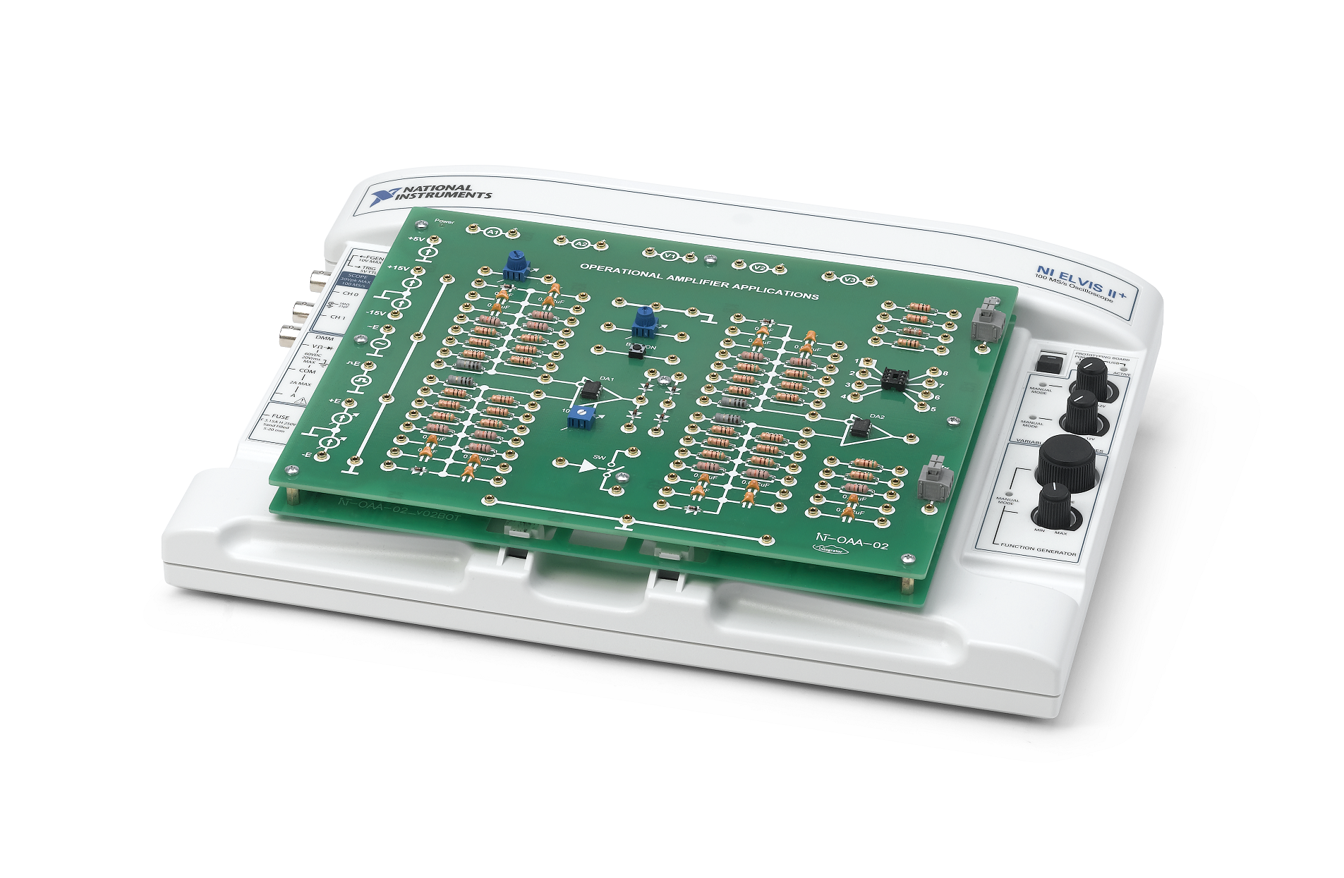 Labs For Integrator Operational Amplifiers Add On Board National The Schematic Diagram Of Amplifier Op Amp Oscillator
